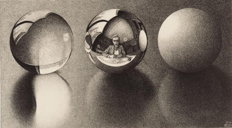 Tres esferas de Escher
