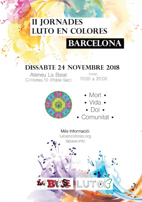 Cartel Jornadas Luto en Colores Barcelona 24 noviembre